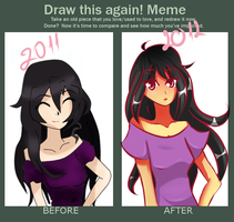 Draw this again meme- Aina by Cutie-girl2