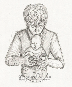 Father and Son Sketch by Grimoire-Des-Reves