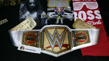 Custom Sasha Banks WWE Women's Championship by emceelokey