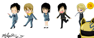 DRRR chibi's :D by animeawesomeness2