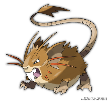 Mega Raticate (Fake) by Tomycase