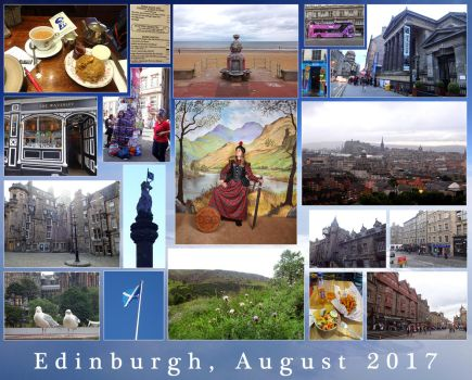 Edinburgh, August 2017 (Photo Collage) by Tabascofanatikerin