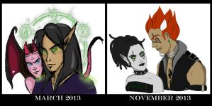Art Progress 2013 by Musing-Zero