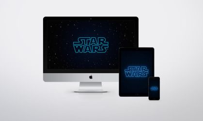 Star Wars - Neon Wallpapers by JasonZigrino