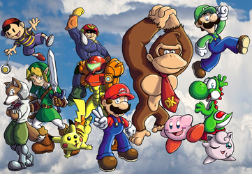 Super Smash Bros. by ChetRippo
