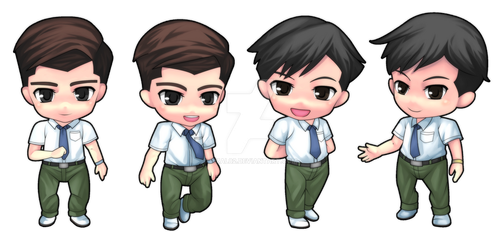 Male hi school Malaysia student - chibi version by rizal82