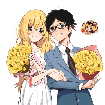 Shigatsu wa Kimi no Uso Render By YounBel2000 by younbel2000