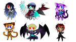 Adoptables Adorable new chibis!~*CHEAP* CLOSED by Fear-Immortal