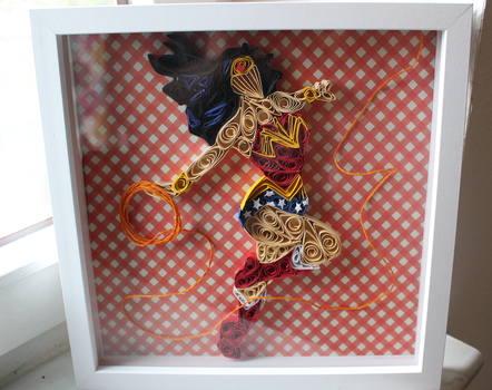 Wonder Woman inspired Quilled Wall Art by WindsweptQuilling