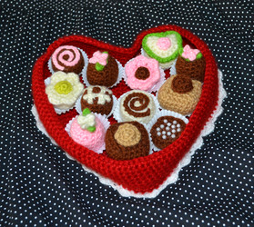 Crochet Box of Chocolates by MiaHandcrafter
