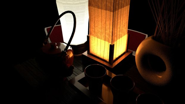 Texturing and Rendering Assignment - Tea Table 3 by Chris000