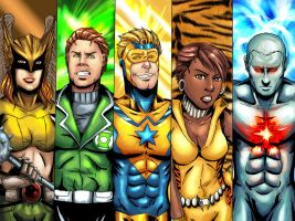 Justice League Group 4 by cpuhuman