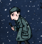 Little Sherlock Holmes on the scent of Santa Claus by MissAway