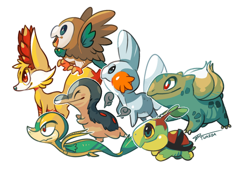 Pokemon Starters by Twarda8