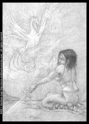 Midda and the phoenix: pencil version from Book I by middaschronicles