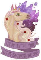 Fly Me To The Moon by enfanir