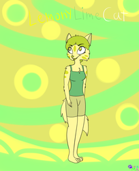 Lemony Lime Cat .:GA:. by minikitty1516