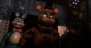 C4D|FNAF2|Wallpaper|NO PLACE TO RUN by YinyangGio1987