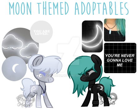 [CLOSED] Moon sisters ponies by Fireflys-Adopts