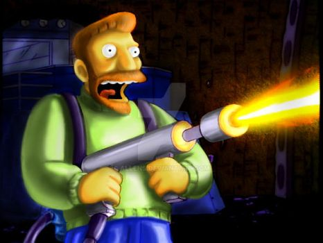 paint over Hank Scorpio by allens
