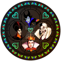 Villains stained glass by jeorje90