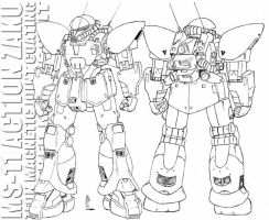 MS-11 Action Zaku by twtmaster