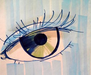 Marker Eye practice by CaitlinEchols