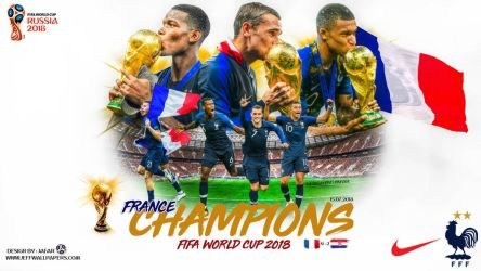 FRANCE CHAMPIONS FIFA WORLD CUP 2018 by jafarjeef