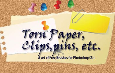 Torn paper brushes by fiftyfivepixels