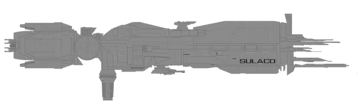 USS Sulaco blueprint / sideview pixelart by JaydoDre