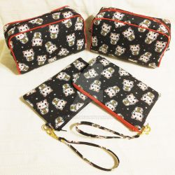 Lucky Cats Travel Bag Set by xkiddo