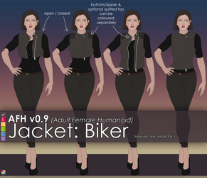 AFH: Jacket - Biker by EMCCV
