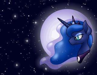 The Moon by PurpleSpaceDragon