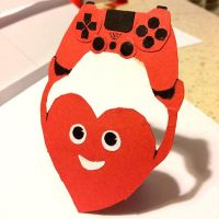 Heart with gamepad by azzza