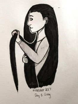 Inktober Day 5: Long by Glacilynn