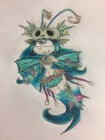 Rayman chronicles character: Annetta fish  by nathandlneumann