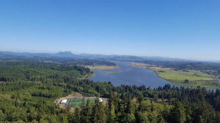 Youngs river and Saddle Mountain by OmuYasha