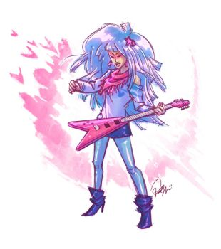 Jem and the Holograms: Aja by peach-mork