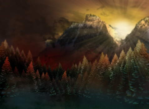 Majestic Mountain Background by SweetLittleVampire