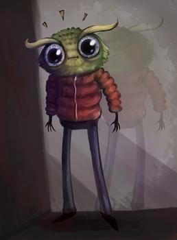 Owl Bug in a Jacket by Super-Cute