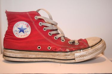 Shoe Stock - Red Converse02 by ImmediateStock