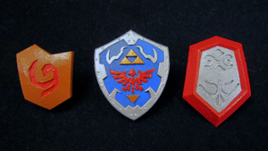 LEGO 3D Printed Painted Ocarina of Time Shields by mingles