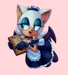Rouge The Maid [SpeedPaint] by CuteyTCat