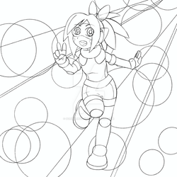 Robot Girl (Colouring Page)