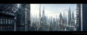 city view, Matte Painting by Raphael-Lacoste