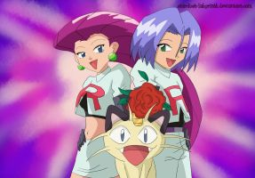Double Trouble Team Rocket by Stardust-Phantom