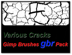 Various Cracks - Gimp Brushes Pack by thobar