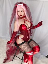 Darling in the Franxx Zero Two Bride Cosplay by RinnieRiot