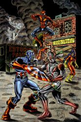 xiuhcoatl vs marvel zombies 02 by terminus70