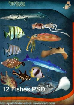 12 Fishes PSD Pack by Pathfinder-Stock
